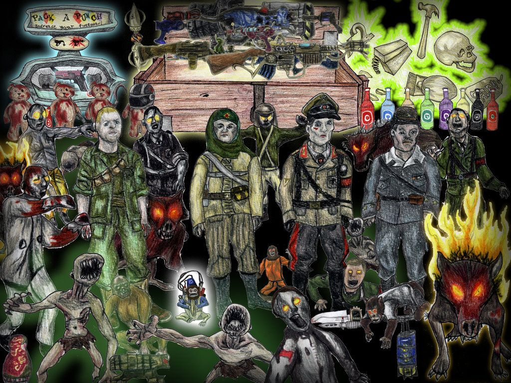 Call Of Duty Zombies Collage By The Katherinator On Deviantart
