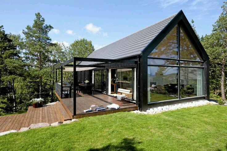 Black And Glass Gable House