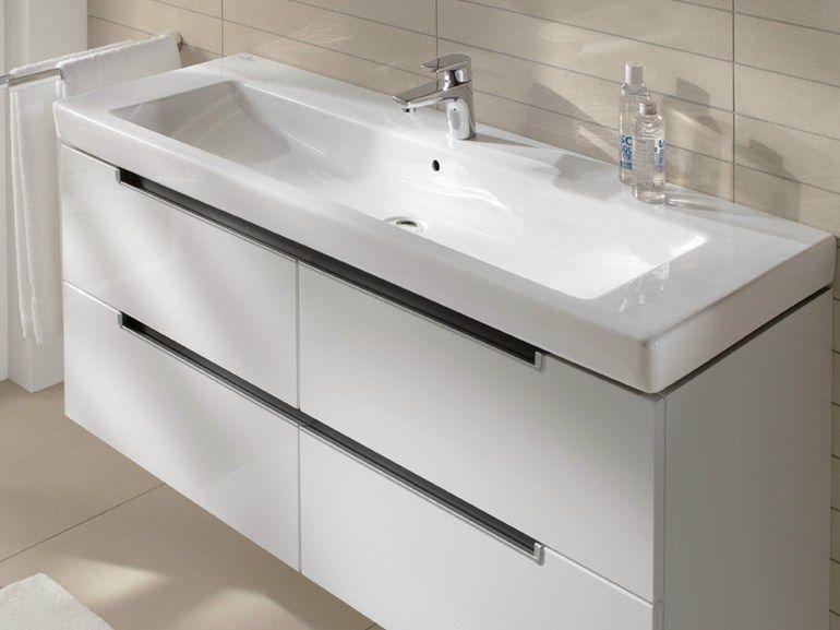 Rechteckiges Waschbecken aus Keramik SUBWAY 20 Kollektion Subway - badezimmermöbel villeroy und boch