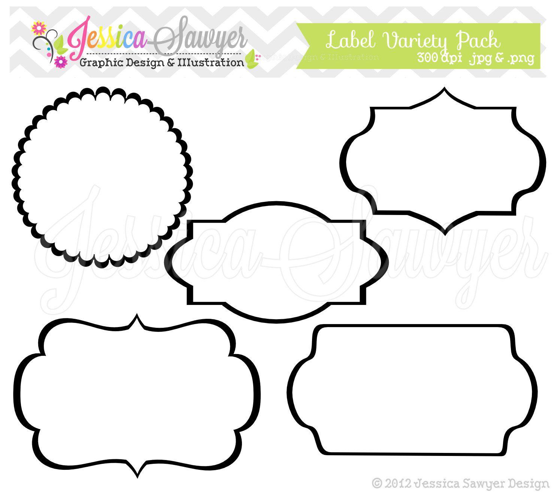 INSTANT DOWNLOAD - label variety pack - digital frames - printable ...