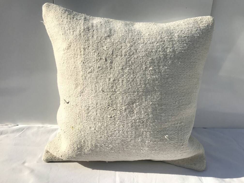 White Hemp Pillow Hemp Pillow Cushion Cover Hemp Living Room Decoration Handmade Pillow Cover Sofa Pillow 16x16 Inches Hemp Cushion Etsy