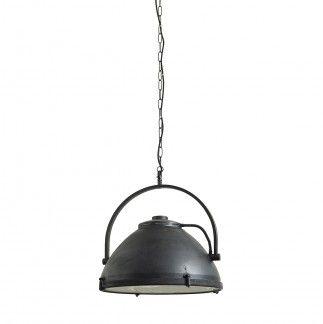 Lámpara de techo color negro diseño foco con asa