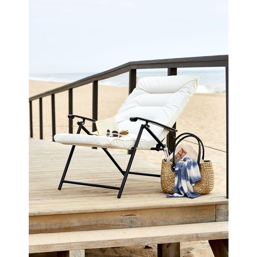 Wilko Garden Reclining Padded Chair Metal | Caravan | Pinterest
