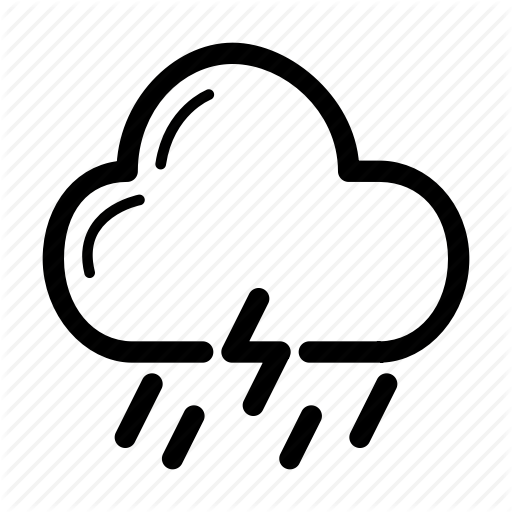 Cloud Forecast Lighting Rain Weather Icon Download On Iconfinder Weather Icons Icon Clouds