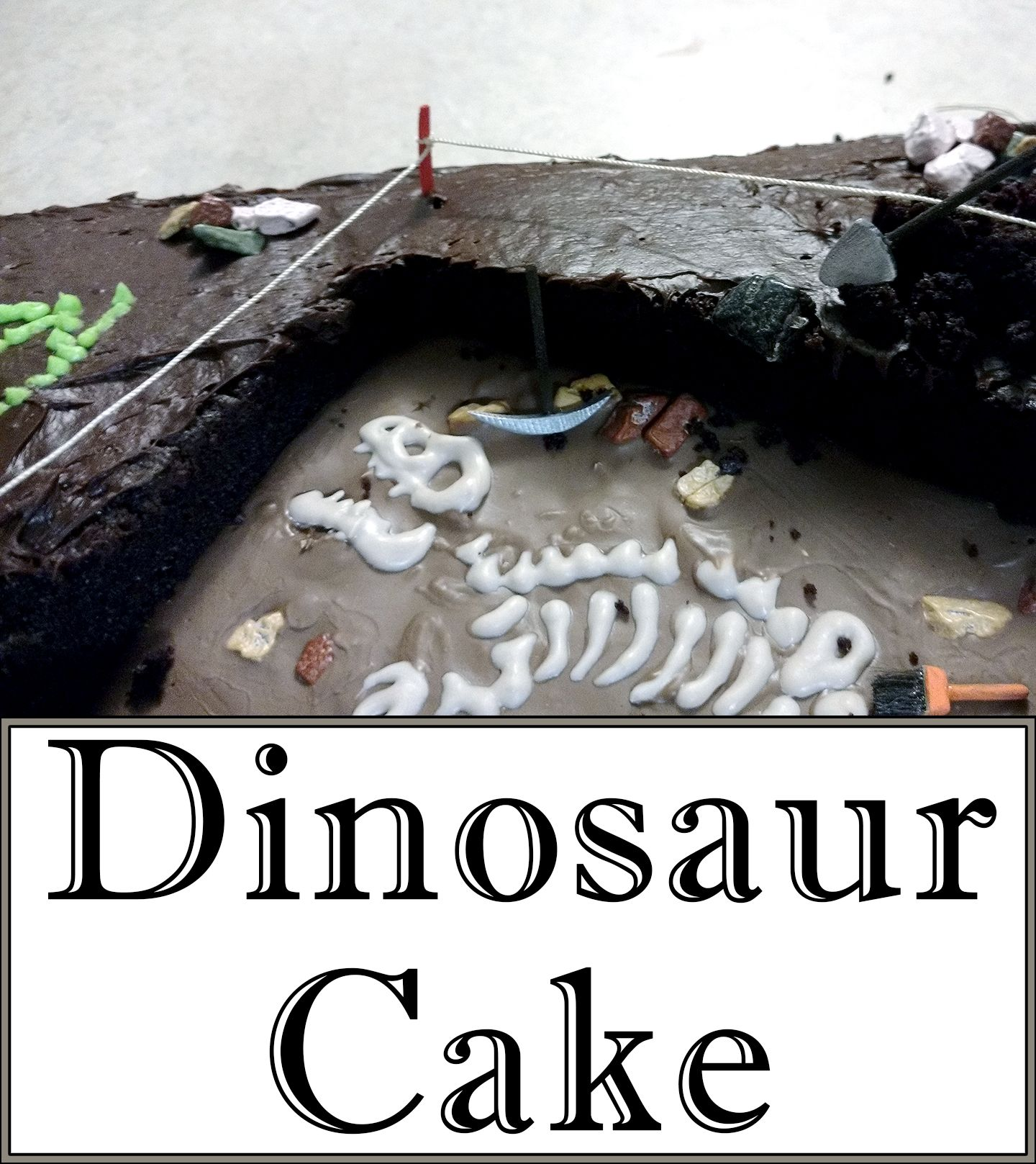 The perfect cake for a budding scientist or dinosaur enthusiast!