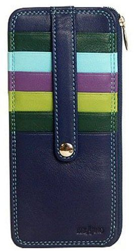 A peacock-color wallet to match my peacock living room!  BelArno Blue Leather Vertical Stacker Card Case Wallet w/ ID Window BelArno http://www.amazon.com/dp/B009S021F0/ref=cm_sw_r_pi_dp_MuI6ub089NAAZ