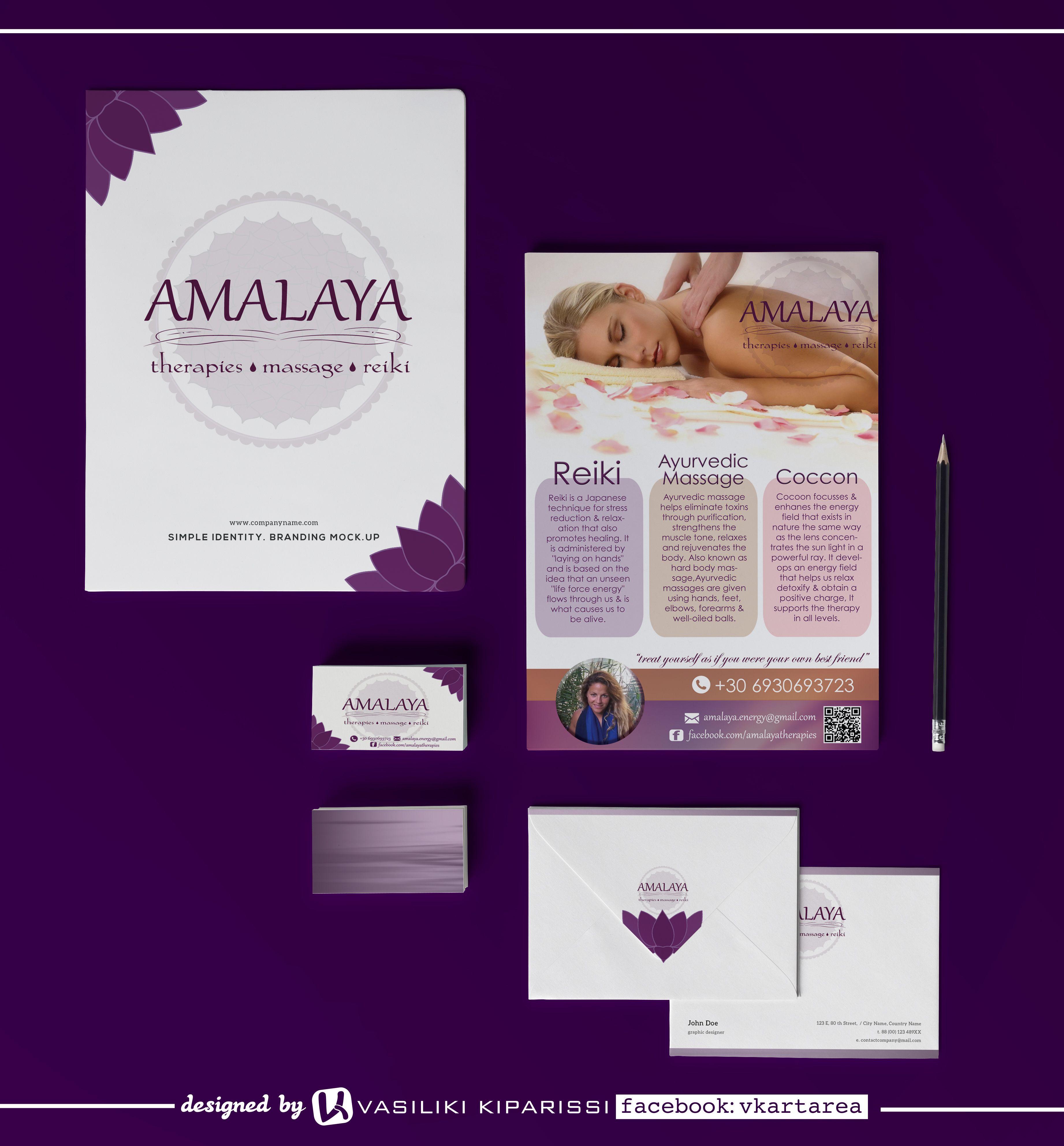 Branding for therapist Amalaya