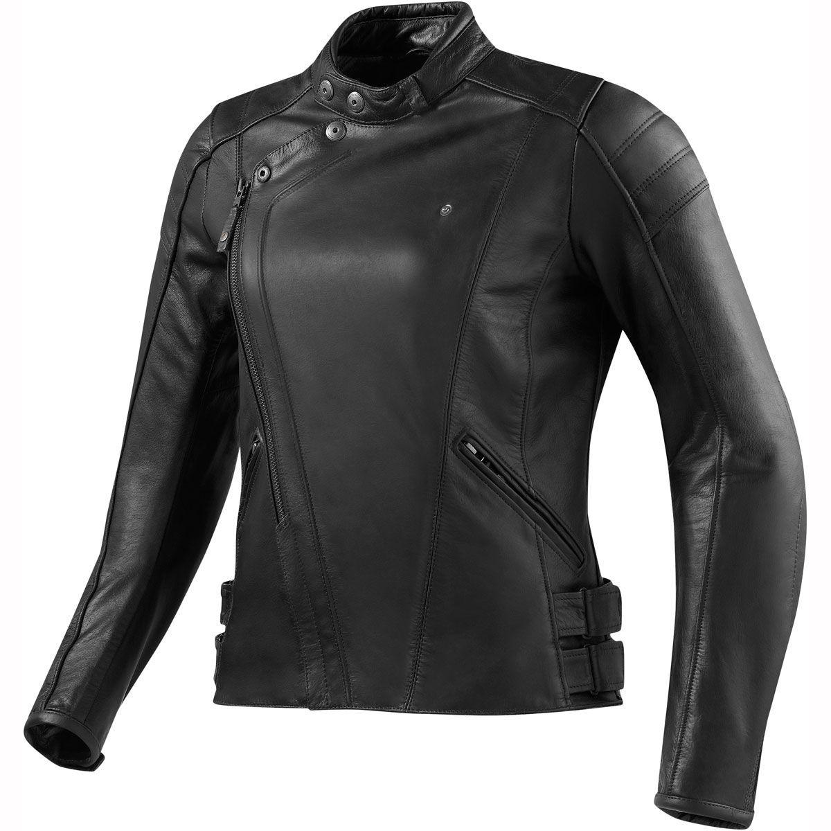 Rev It! Bellecour Leather Jacket Black Womens black