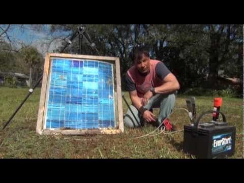 Diy Solar Panel Broken Glass Experiment With Simple Solar Panel Used To Charge Yard Tools Solar Diy Solar Diy Solar Panel