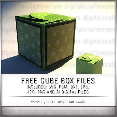 Free Mini Cube Box Template Set Paper Box Template Box Template