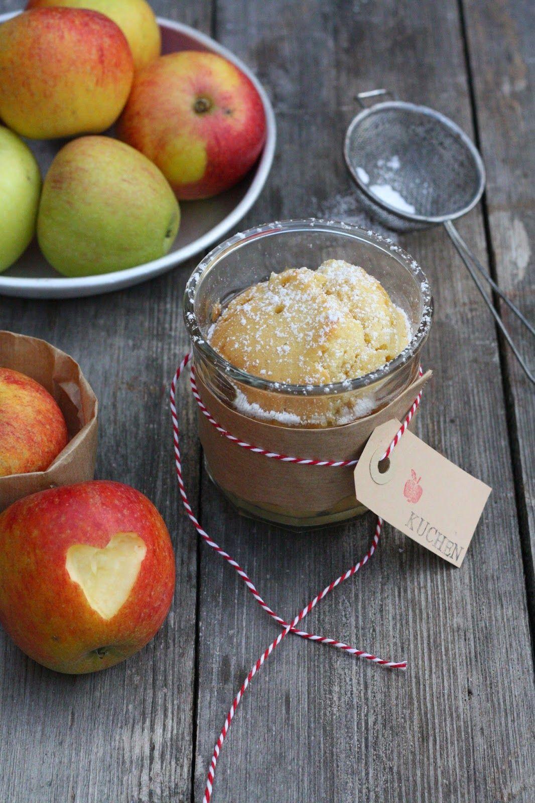 HerzStück: Zweierlei Apfelkuchen, Kuchen im Apfel, Apfelkuchen im Glas, applecake