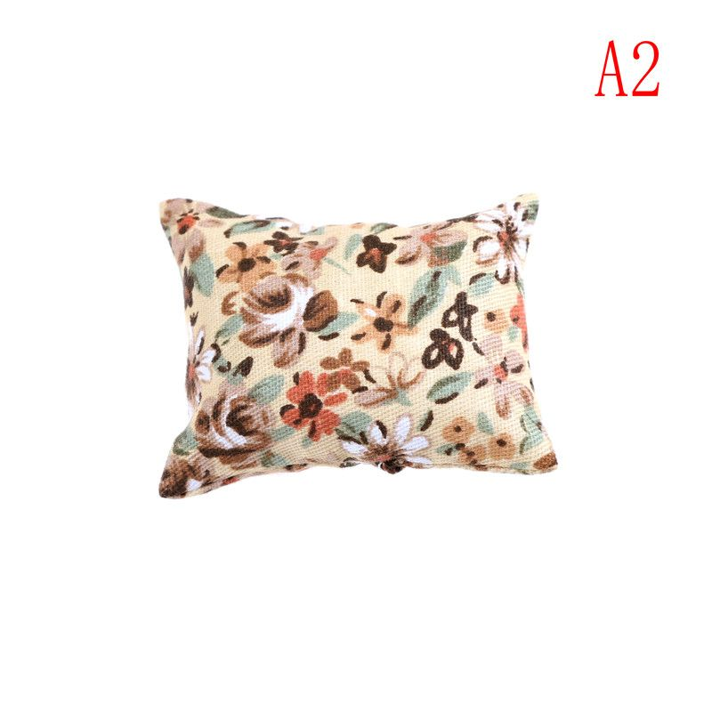 Dollhouse Pillow Miniature Cushions Dollhouse Furniture Bed Sofas Bedroom 1:12