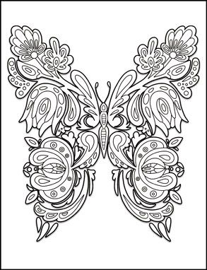 Butterflies Coloring Book for Adults by Amanda Neel | Paper projects ...