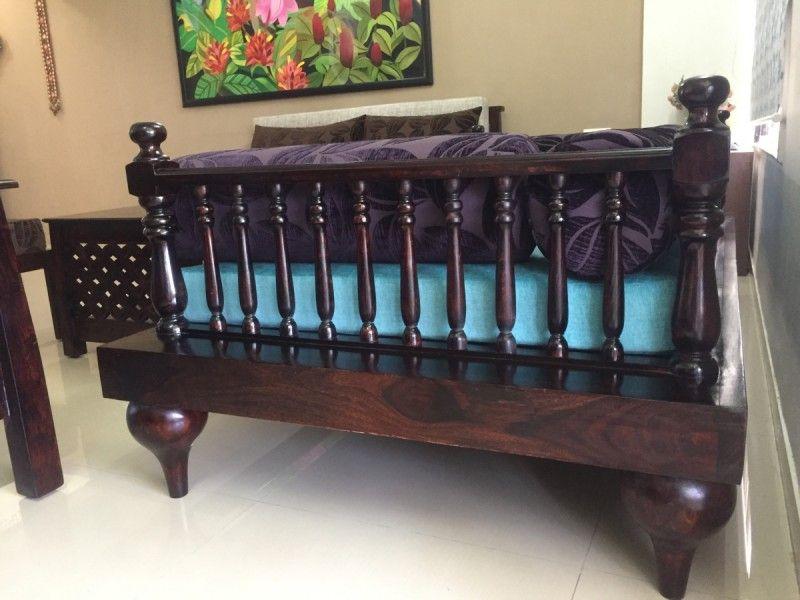 Diwan Sofa LOTUS in 2020 | Wooden sofa designs, Online ...