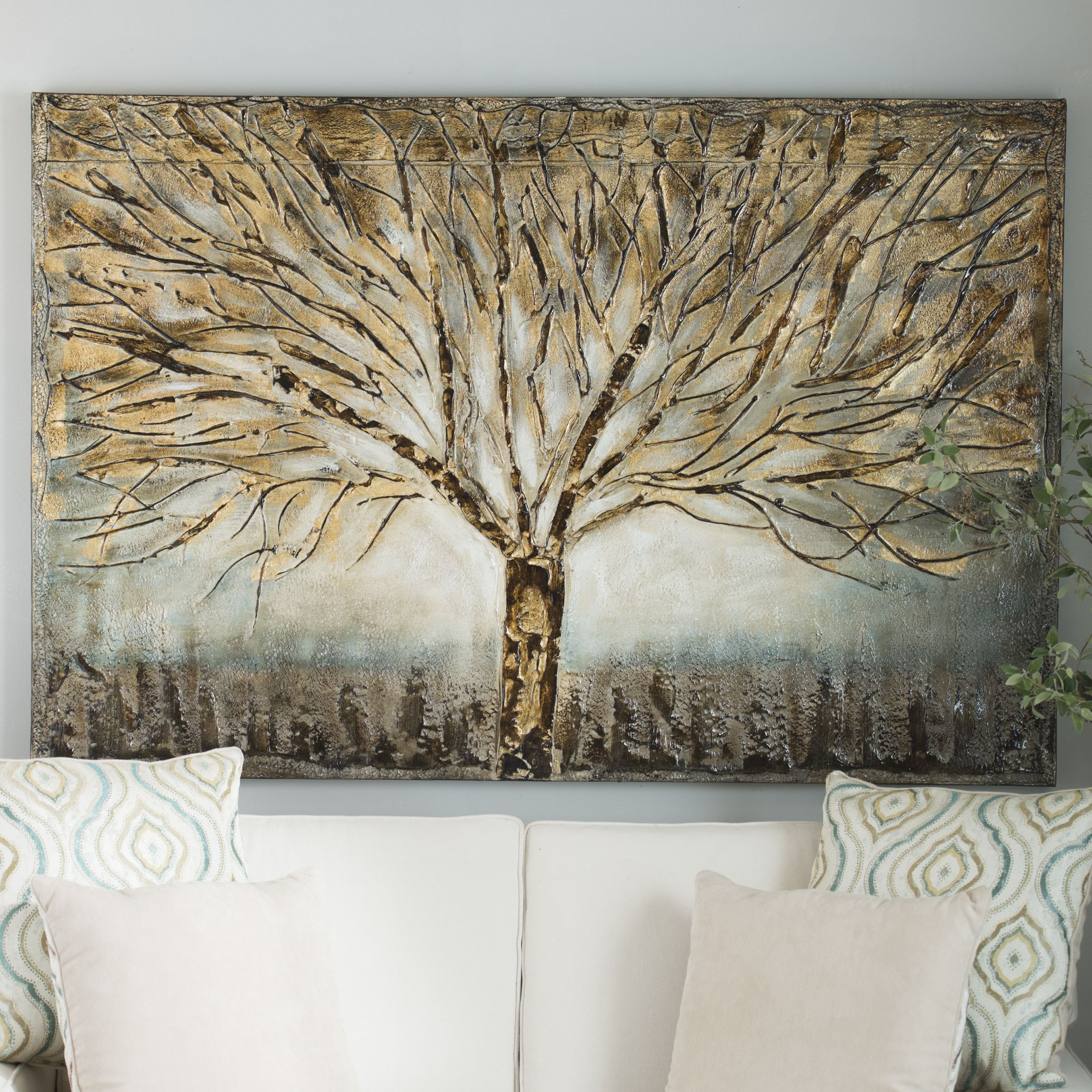 Gold Branches Canvas Art in 2018 | Decorative Walls ...