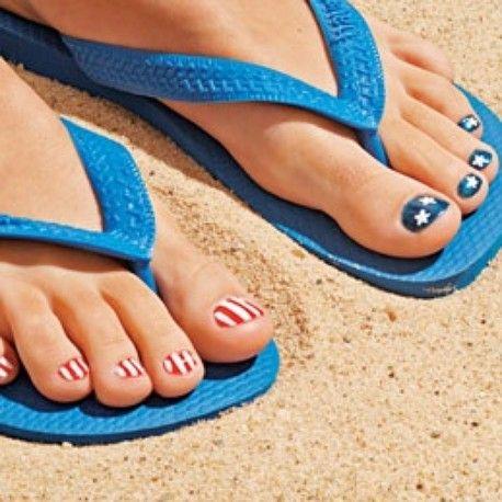 Show your stars and stripes on opposite feet like Pinterest/Familyfun.go.com