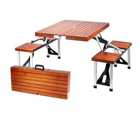 Picnic Table Brief Case Awesome Stuff 365 Folding Picnic Table Wooden Picnic Tables Portable Picnic Table