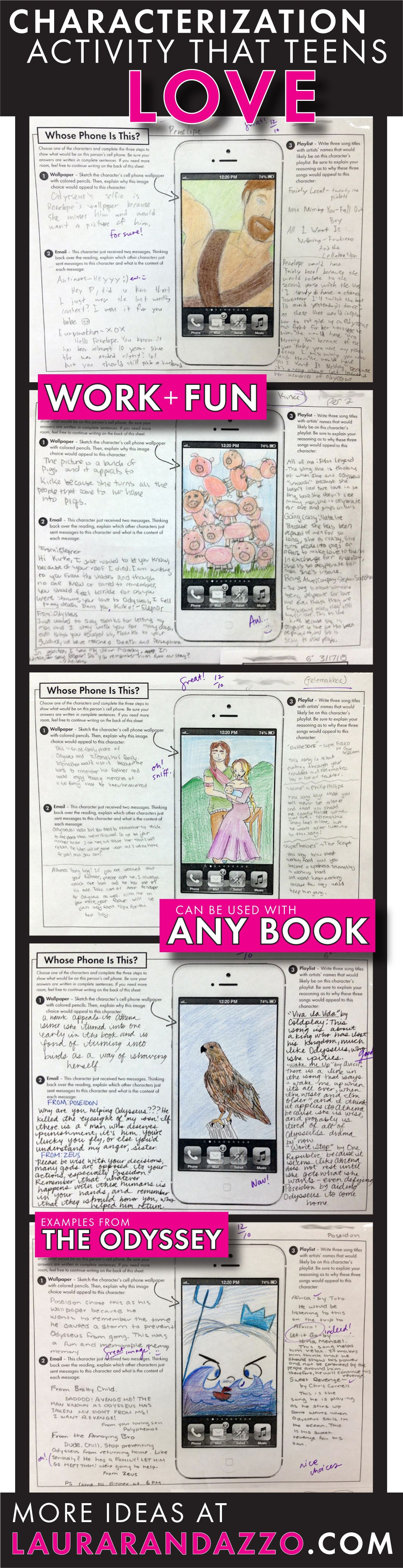 Cell Phone Characterization Fun Handout For Any