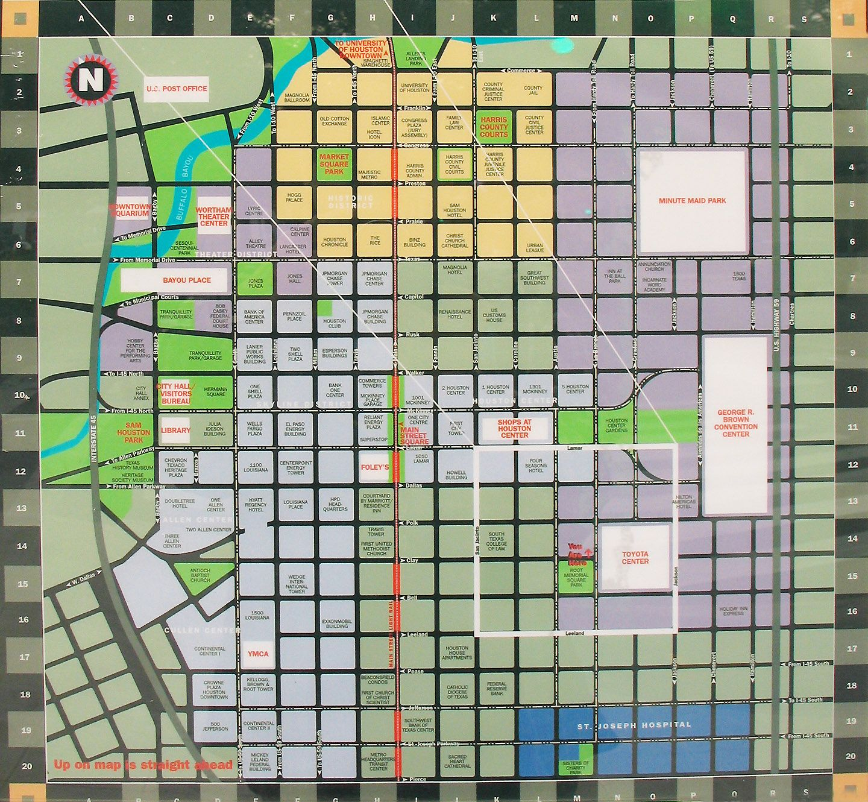 Map of Downtown Houston | houston | Houston, Map, Clear lake