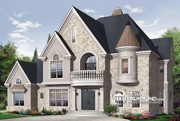Plan de Maison unifamiliale W3842, hampêtre, country, house style