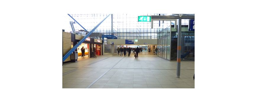 Ceramiche Coem | OVT #Railway Station – #Utrecht – the #Netherlands | QUARZITE collection | #porcelain #stoneware, #thickness14mm, #stone effect #flooring