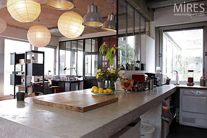 24++ Cuisine ouverte bar verriere trends
