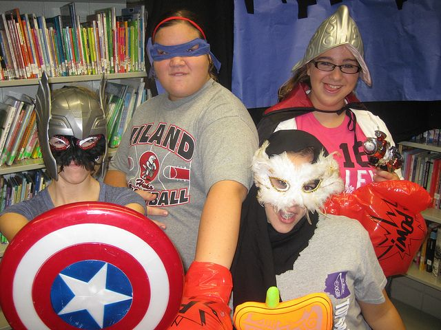 Hiland Middle School - We hosted a superhero photo booth during
