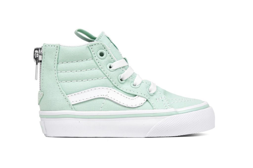 ed3fa16e32 Vans Toddlers Sk8-Hi Zip - Gossamer Green True White