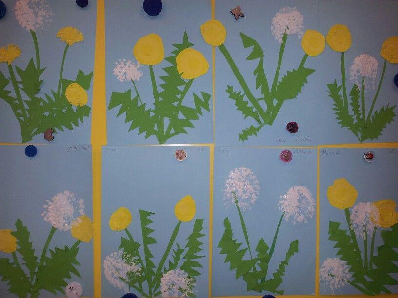 L wenzahn und pusteblume meine kindergartenarbeiten - Pusteblume basteln ...