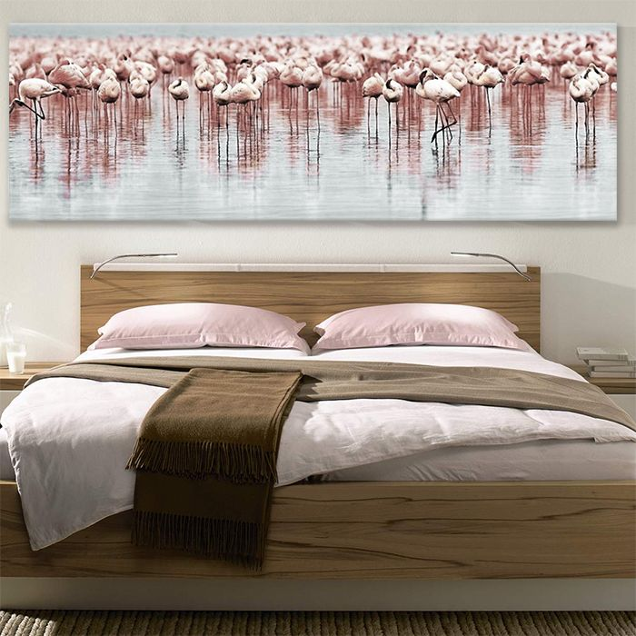 Canvas Print Flamingos By Sticky Panoramic Canvas