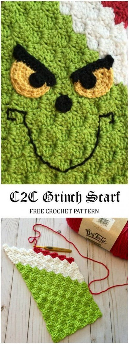 Super crochet christmas scarf yarns 59 ideas #grinchscarfcrochetpatternfree