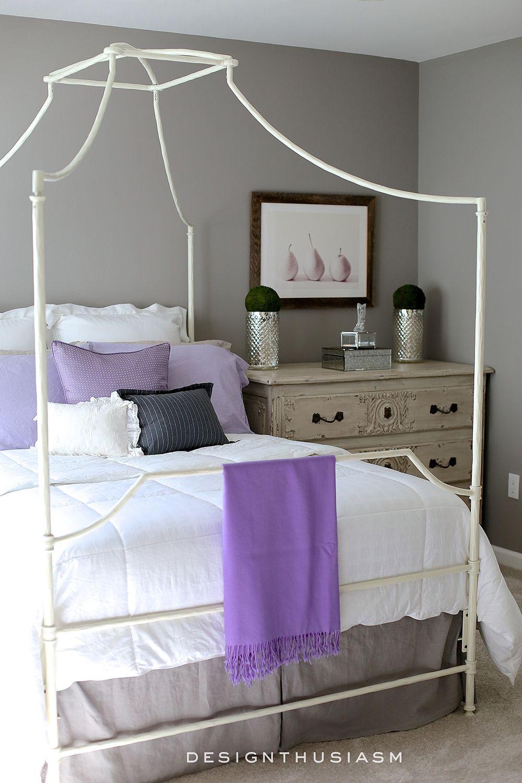 lilac-and-grey-bedroom-02 1,000×1,500 pixels | decoracion