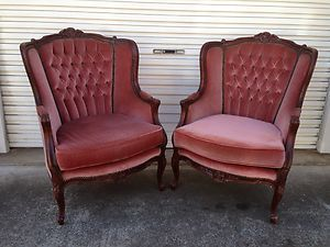 french antique vintage rocco italian shabby chic armchairs x2 ebay rh pinterest com