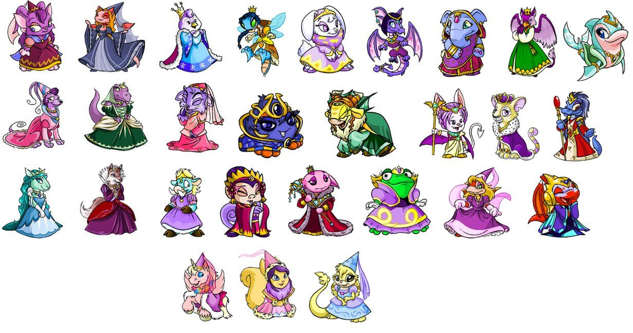 Buy Unconverted Neopets Royal Girls Neopets Royal