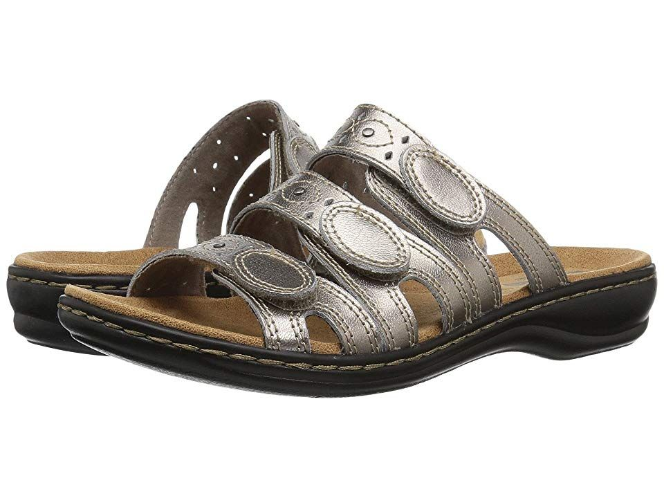 ccba7fbd7115 Clarks Leisa Cacti Q (Pewter Leather) Women s Sandals. The Leisa Cacti Q is