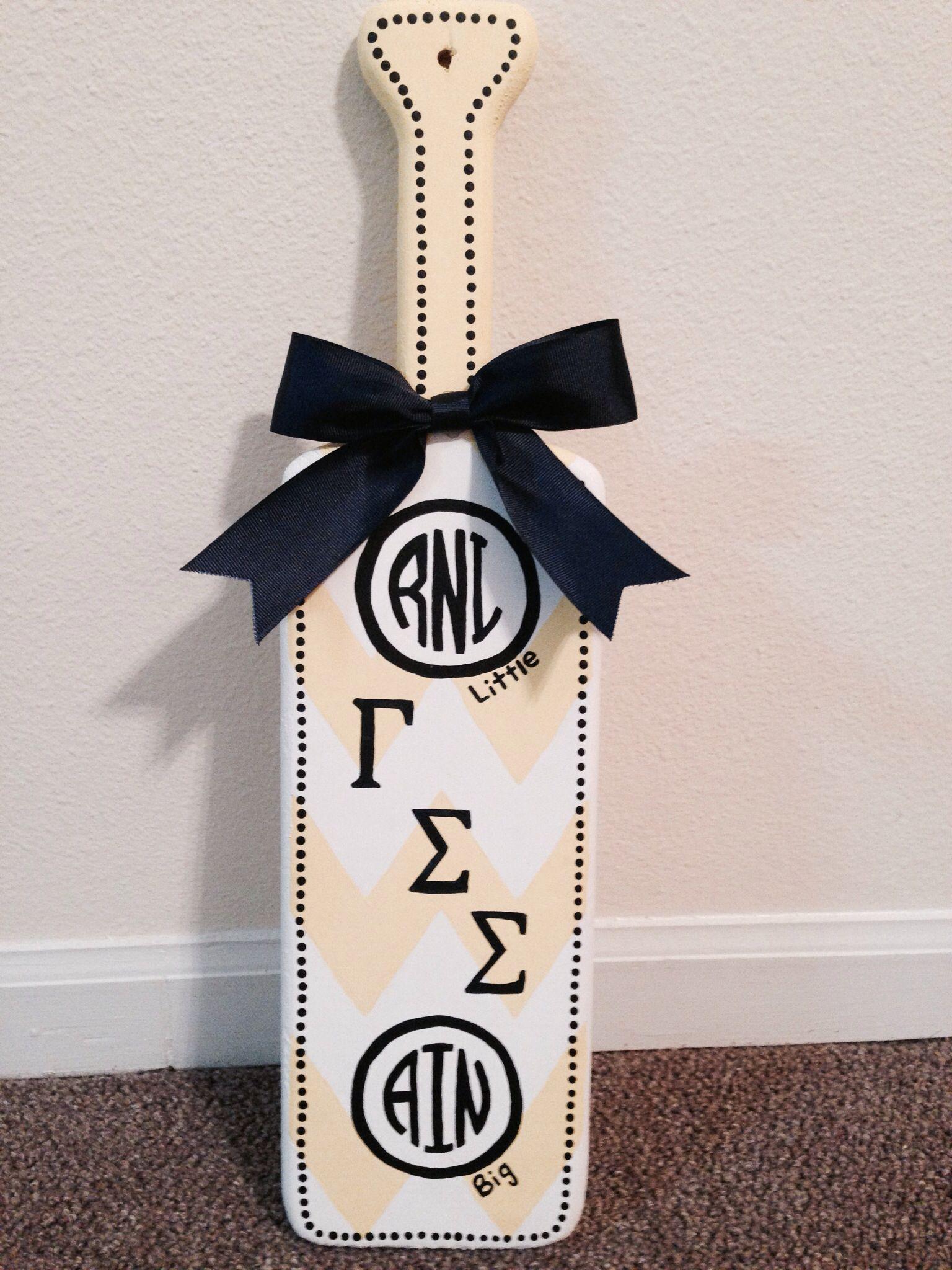 Gamma Sigma Sigma monogrammed paddle for induction | Sorority ...