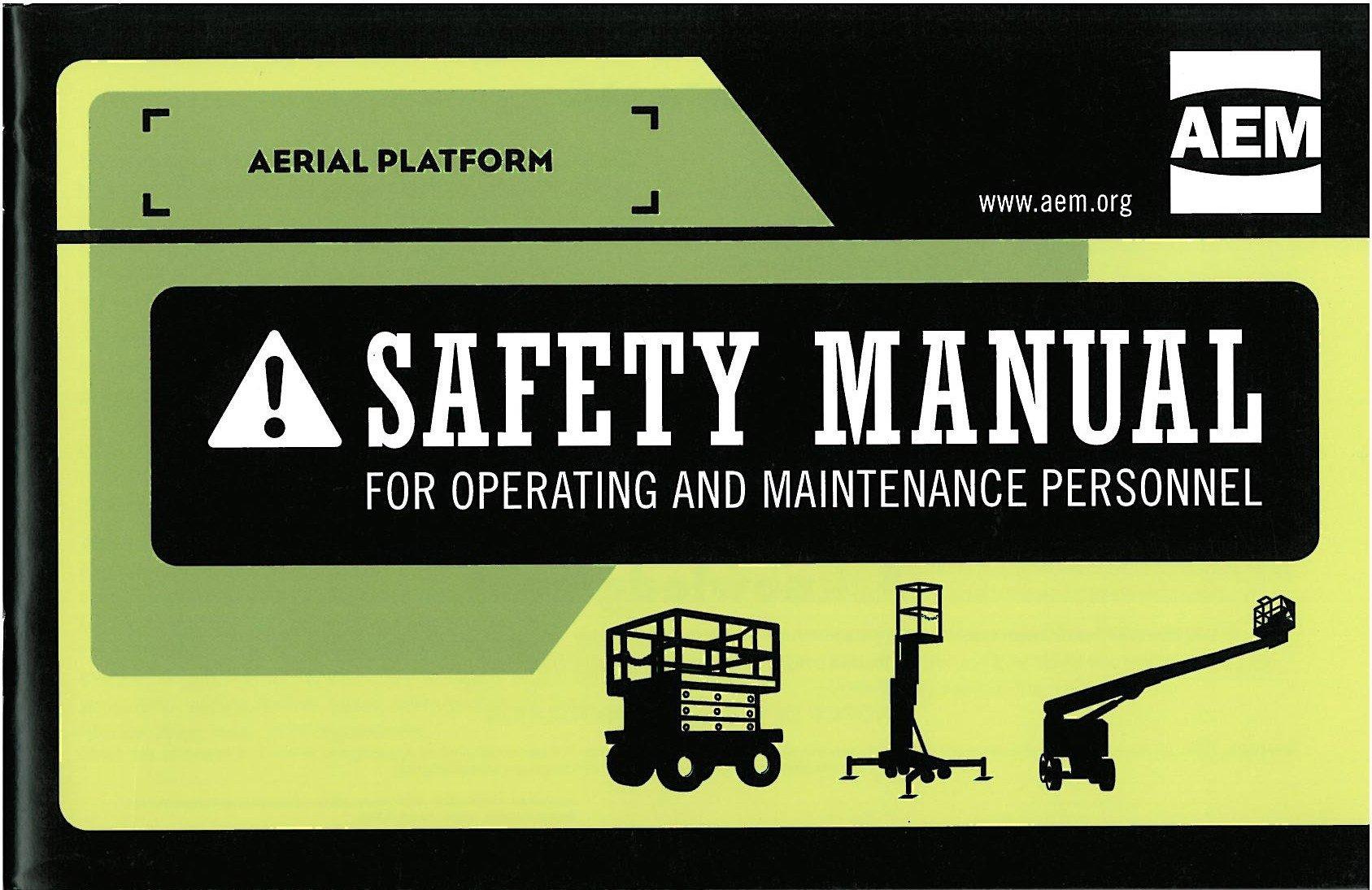 Aerial Platform Safety Manual Safety, Manual, Work platform