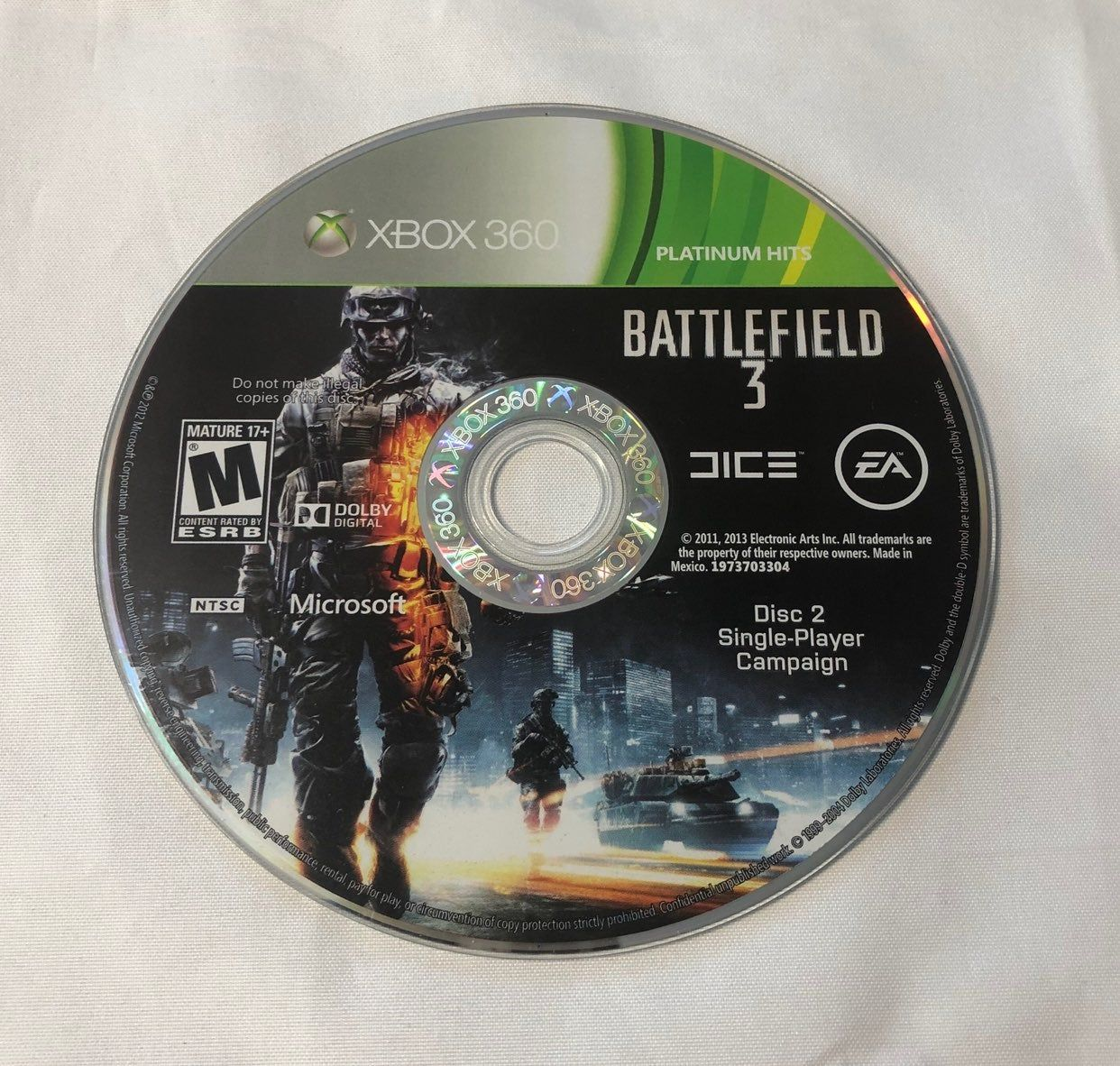 Microsoft Xbox 360 Platinum Hits Replacement Disc 2 Only Pre