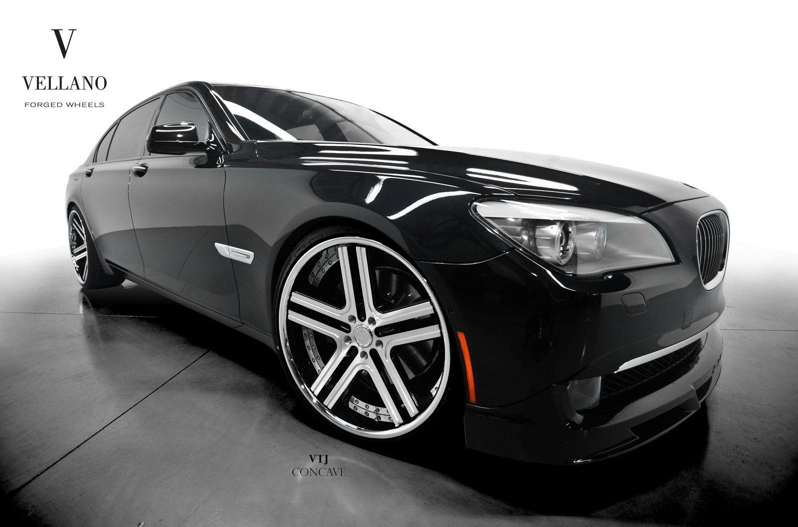 Bmw 7 Series Black Vellano Wheels Tuning Cars Wallpaper 1600x1058 392991 Wallpaperup Bmw Bmw 7 Series Car Tuning