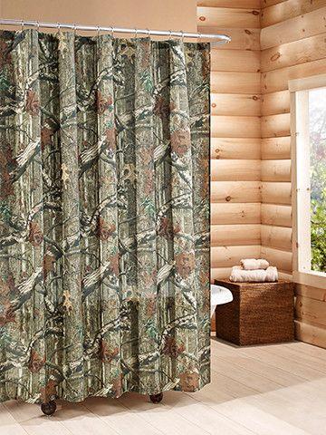 B Mossy Oak Shower Curtain