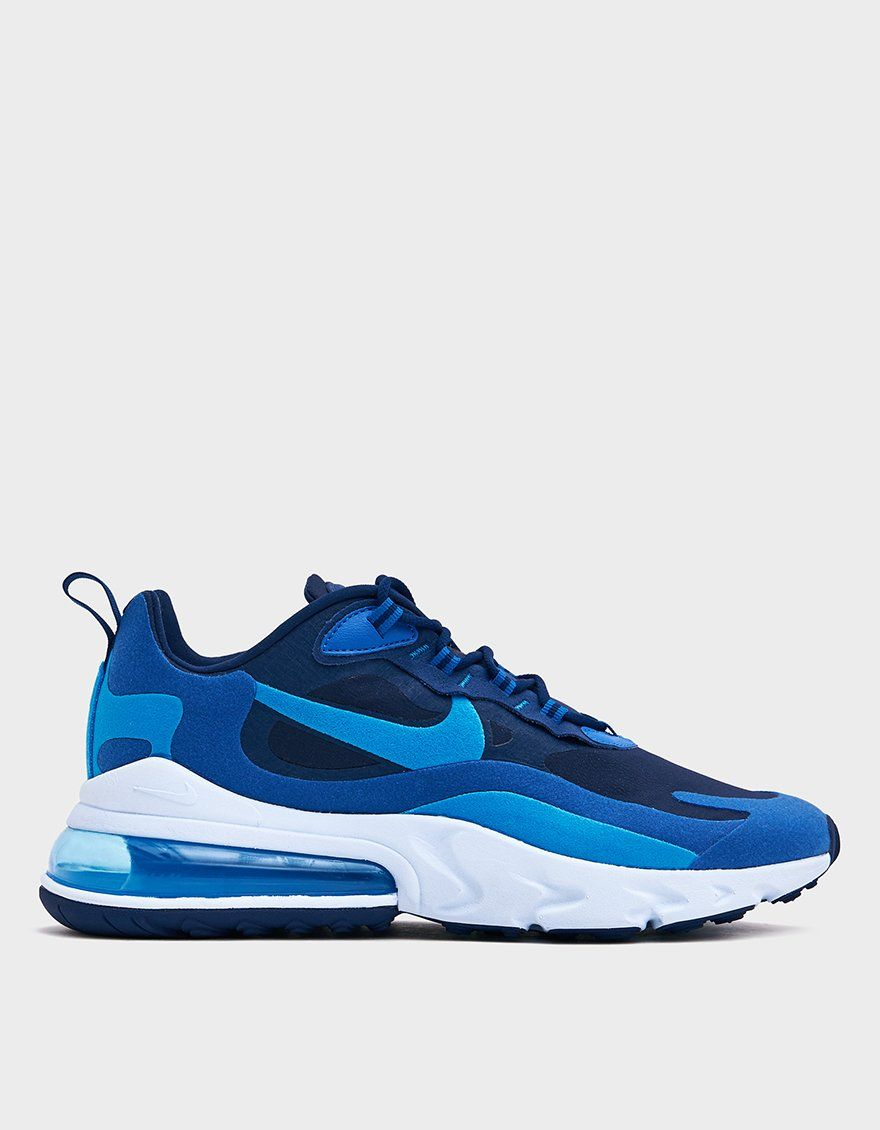 Nike Men's Air Max 270 React Sneaker in Blue Void, Size 10.5