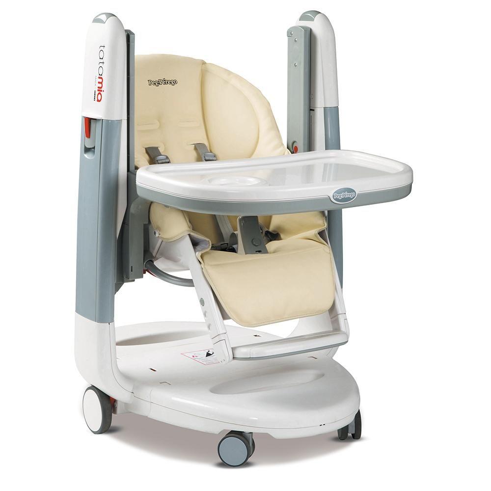 Amazon Com Peg Perego Tatamia High Chair White Latte Baby High Chair Chair Striped Chair