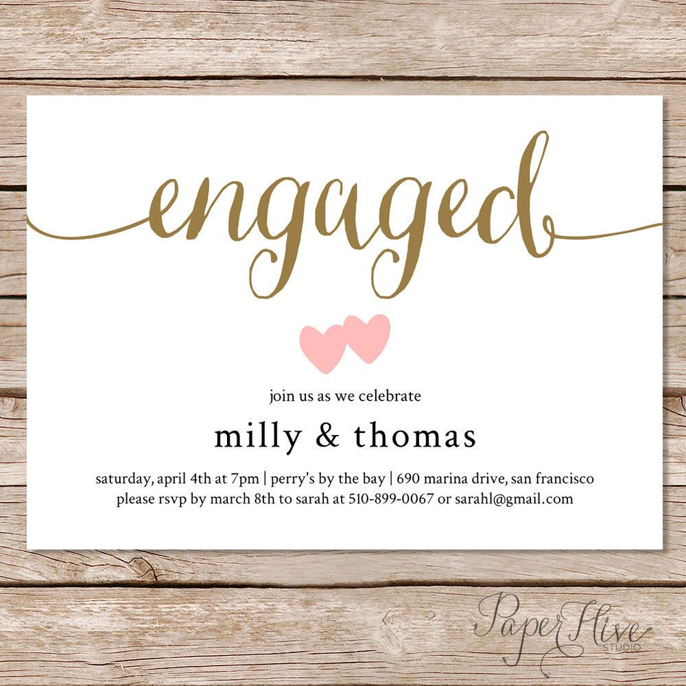 Engagement Party Invitation / Engagement Party Invite / Couples Shower  Invite / Printable Or Printed Cards  Free Engagement Party Invitation Templates Printable