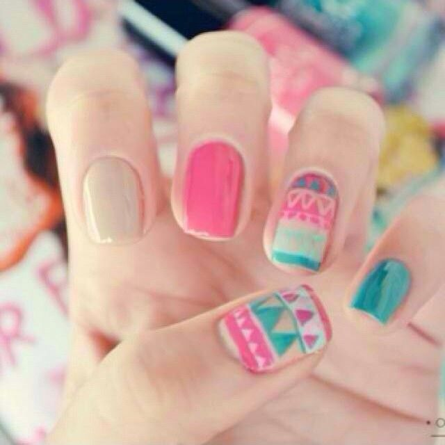 Nails styles addict instagram profile ink361 nails summer aztec nails summer spring nails diy nail art diy ideas do it yourself diy nails nail designs aztec nails solutioingenieria Images