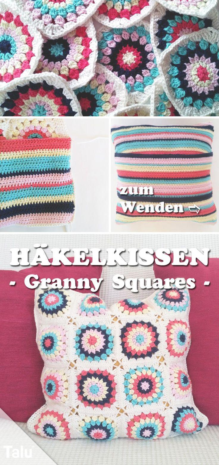 mein erstes h kelkissen kissen h keln kostenlose anleitung granny squares h keln h keln. Black Bedroom Furniture Sets. Home Design Ideas