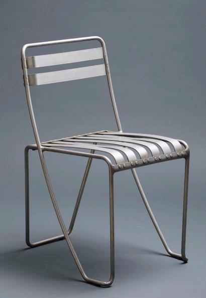 Aluminium Stacking Chair, Prototype 1933   Designer: Alfred Roth