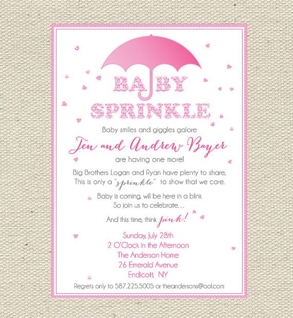 baby sprinkles pink baby sprinkle baby shower invitation