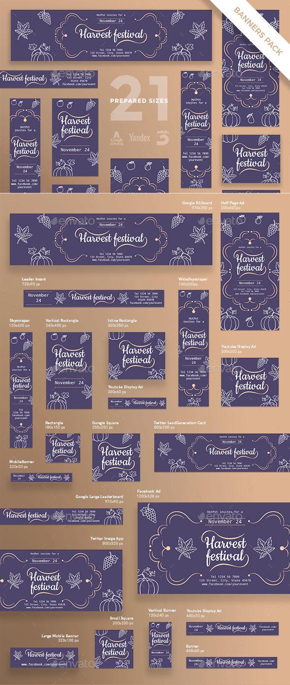 Harvest Festival Banner Pack