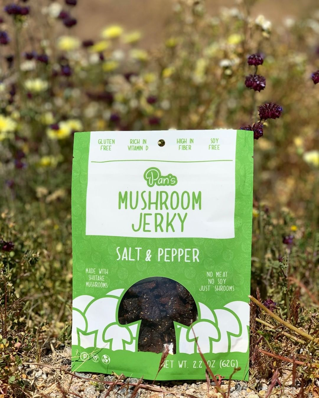 Salt and Pepper Mushroom Jerky by Pan's Stuffed