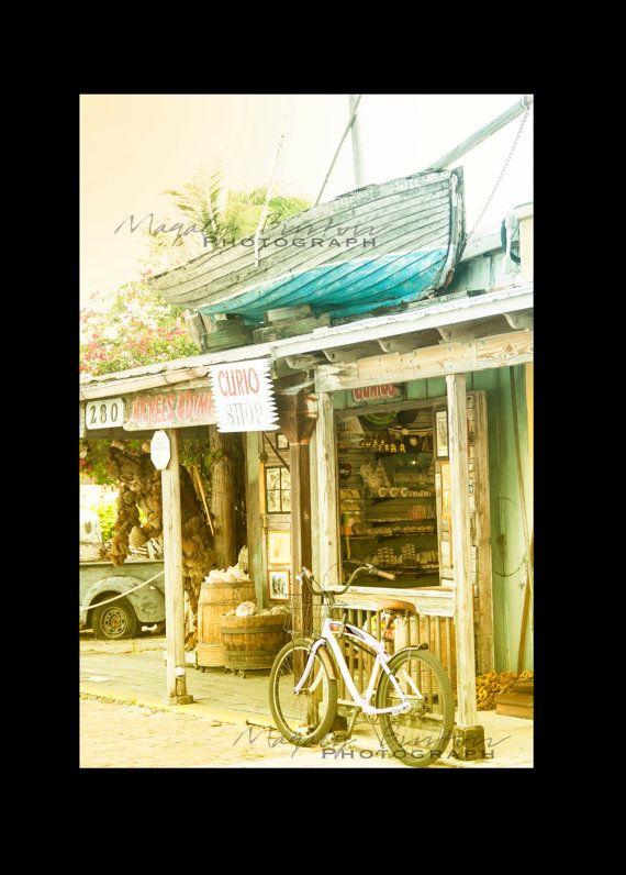 Key West Shop, Tropical wall art decor, Beach Town, Boat Photography ...